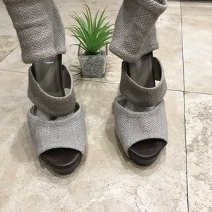 Saint Laurent wooden heels